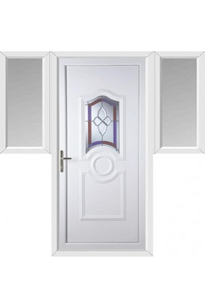 Jacobstow Crystal Gem uPVC Door with Two Flags
