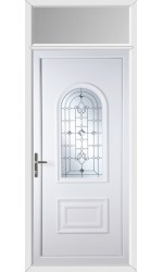 Ellesmere Port Crystal Shimmer uPVC Door with Toplight