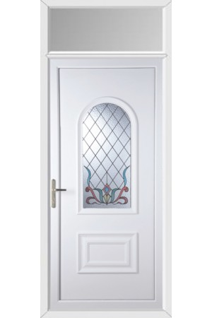 Ellesmere Port Scroll uPVC Door with Toplight