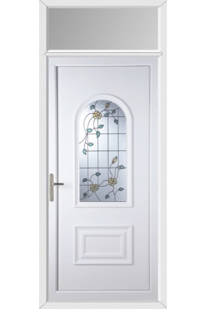 Ellesmere Port Yellow Rose uPVC Door with Toplight
