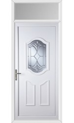 Gravesend York Master uPVC Door with Toplight