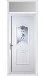Jacobstow Clear Resin Rose uPVC Door with Toplight