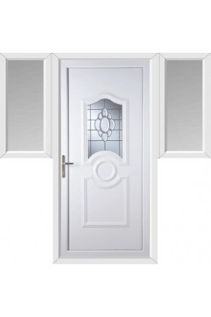 Jacobstow Glue Chip Bevel uPVC Door with Two Flags