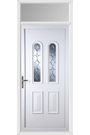 Newport Bingley Bevel uPVC Door with Toplight