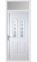 Newport Victorian Blast uPVC Door with Toplight