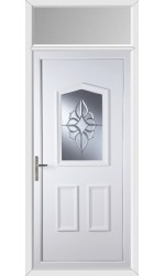 Oakham China Cluster uPVC Door with Toplight
