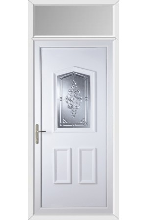 Oakham Connah uPVC Door with Toplight
