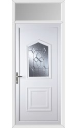Poole Bevel Cluster uPVC Door with Toplight