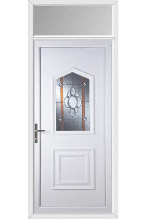 Poole Heaton Bevel Border uPVC Door with Toplight