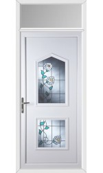 Poole Primrose 2 Glazed Apertures uPVC Door with Toplight