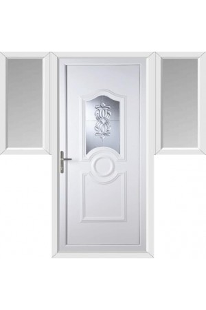 Jacobstow Oxford Crystal uPVC Door with Two Flags