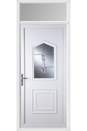 Poole Traditional Tulip uPVC Door with Toplight