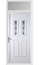 Queensferry Victorian Twist uPVC Door with Toplight