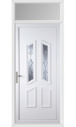 Rotherham Star Cut Bevel uPVC Door with Toplight