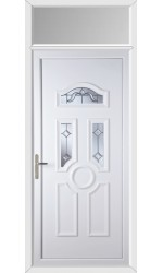 Viewpark Victorian Bevel uPVC Door with Toplight