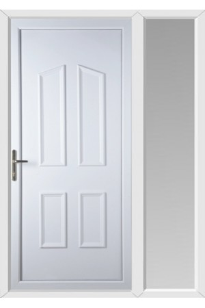 Darlington Solid uPVC Door with One Sidelight