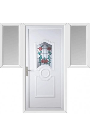 Jacobstow Summer Rose uPVC Door with Two Flags