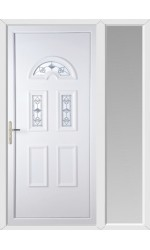 Blackburn Crystal Tulip uPVC Door with One Sidelight