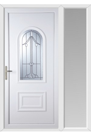 Ellesmere PortHarding Bevel uPVC Door with One Sidelight