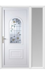 Ellesmere Port Yellow Rose uPVC Door with One Sidelight