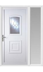 Folkestone Crystal Gem uPVC Door with One Sidelight