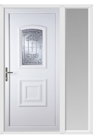 Folkestone New Tara uPVC Door with One Sidelight