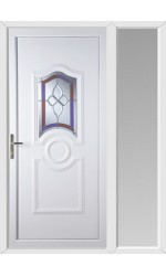 Jacobstow Crystal Gem uPVC Door with One Sidelight