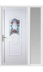 Jacobstow Summer Rose uPVC Door with One Sidelight