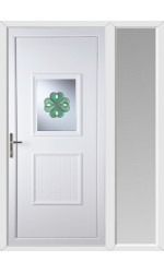 Loughborough Irish Bevel uPVC Door with One Sidelight
