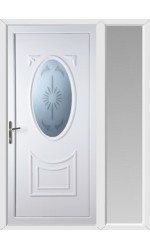 Maidenhead Star Blast uPVC Door with One Sidelight