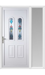 Newport Plumb uPVC Door with One Sidelight