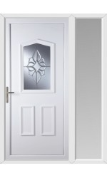 Oakham China Cluster uPVC Door with One Sidelight