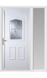Oakham Connah uPVC Door with One Sidelight