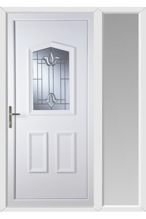 Oakham Coventry Bevel uPVC Door with One Sidelight
