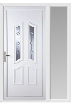 Rotherham Triple Bevel uPVC Door with One Sidelight