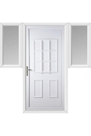 Harrogate Solid uPVC Door with Two Flags
