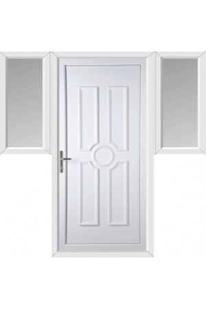 Queensferry Solid uPVC Door with Two Flags