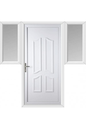 Rotherham Solid uPVC Door with Two Flags