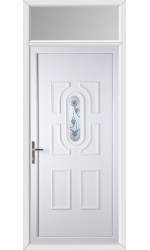 Colchester White Rose uPVC Door with Toplight