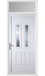 Ilkeston Star Cut Bevel uPVC Door with Toplight