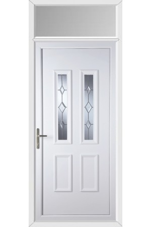 Cuba Star Cut Bevel uPVC Door with Toplight