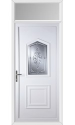 Poole New Connah uPVC Door with Toplight