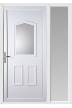 Livingstone Clear Glazed uPVC Door with One Sidelight