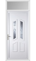 Rotherham Baildon Bevel uPVC Door with Toplight