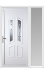 Rotherham Baildon Bevel uPVC Door with One Sidelight