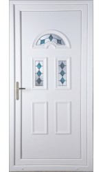 Blackburn  Blue Jewel uPVC Door