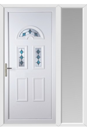 Blackburn Blue Jewel uPVC Door with One Sidelight