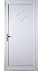 New Back Door Diamond Solid uPVC Door