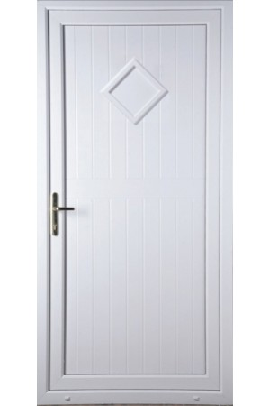Telford Back Door Diamond Solid uPVC Door | Frame Style