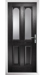 The Aylesbury Black Composite Door with Clear Glazing